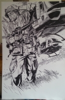 Michael Golden THE NAM commission, Comic Art