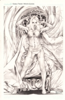 White Queen Emma Frost by Jay Anacleto Comic Art