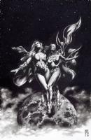 Batgirl and Supergirl World's Finest, Comic Art