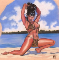 Bettie at the Beach!, Comic Art