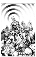THE UNCANNY INHUMANS #0 (June 2015) - One (1) Minute Later, 1:15 Avengers Variant; featuring Thor, Vision, Fantastic Four (Thing and Human Torch) and Black Bolt! Comic Art