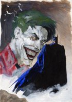 Scott Hampton Batman and Joker painting Comic Art