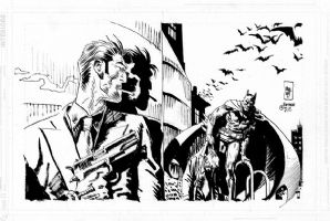 Jordi Bernet Batman vs. Torpedo Comic Art