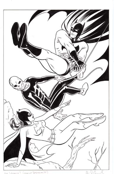 Mike Allred Batman and Batgirl  Comic Art