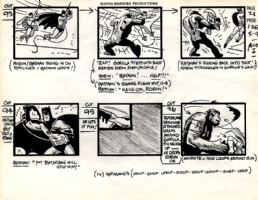 Alex Toth Batman and Robin storyboard Comic Art