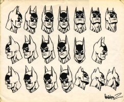 Jose Luis Garcia-Lopez Batman Heads Comic Art