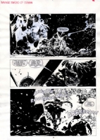 Zaffino Savage Sword of Conan 162 p.16 Comic Art