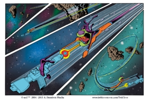 LL59-Twit Troo out of control in deep space! Comic Art
