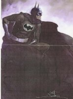 Contemplative Batman  (watercolor) Comic Art