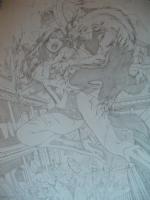 Wonder Woman VS Werewolf - commission SPLASH Comic Art