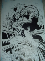 Wonder Woman VS Werewolf - commission SPLASHsold Comic Art