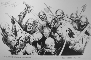 Fight Skorne & Zombies Comic Art