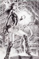 Dark Mary Marvel by Jay Anacleto Comic Art