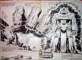 Shogun Warriors #10 DPS Trimpe Comic Art