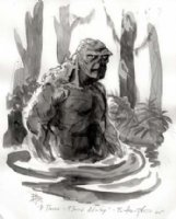 Bo Hampton - Swamp Thing Comic Art