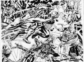 The Inhumans VS The New Gods Comic Art