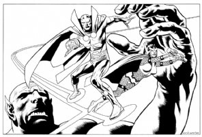 Mr. Miracle and Big Barda Comic Art