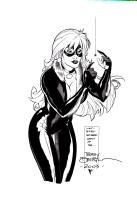 Terry Dodson Black Cat Comic Art