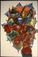 Kev Walker, ABC WARRIORS cover Comic Art