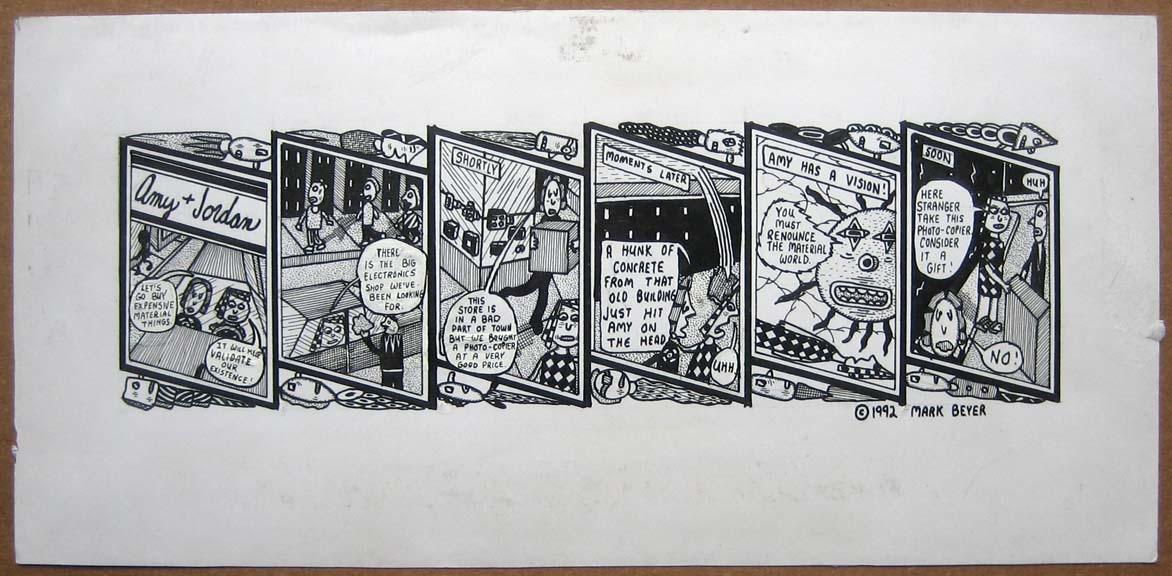 Amy & Jordan strip art Comic Art