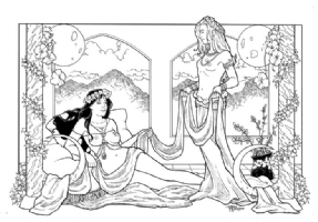 Terry Moore - Art Nouveau commission Comic Art
