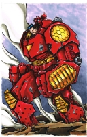 Hulkbuster Iron Man - Fletcher Comic Art