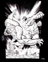 Hulk vs. Abomination, Comic Art