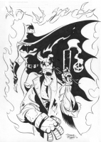 Batman Hellboy, Comic Art