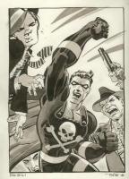 The Black Terror by Tim Sale, Comic Art