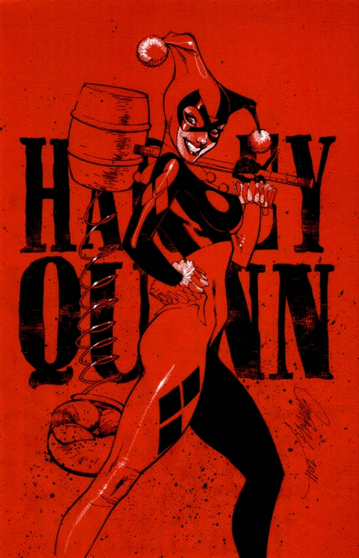 Harley Quinn Red Comic Art