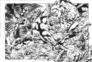 Bryan Hitch - Defenders Commission Comic Art