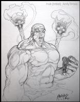 Hulk (Tribal)- Pencil- Brase, Comic Art