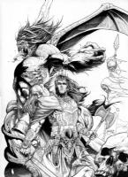 Kull #1 cover- Ink version, Comic Art