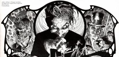 Joker + Villains: Ink Detail, Comic Art