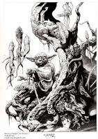 Yoda : Swamp Dweller - Ink, Comic Art
