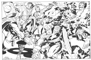Marvel Super Heroes Comic Art