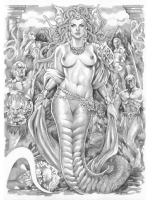 Medusa by Elizabeth Torque**NUDITY ALERT** Comic Art