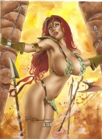 the Very Sexy Red Sonja by Alex Miranda  Comic Art