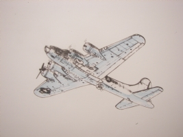 the B-17 from Heavy Metal's story  Gremlins  Comic Art