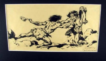 A fight to the death **FOR SALE $100 plus shipping** Comic Art