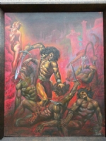 CONAN interior painting by Marcus Boas Comic Art