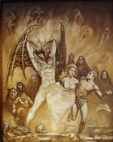 The cover to Robert E. Howard's The Singers In The Shadows by Marcus Boas Comic Art