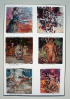 Set of 6 ex-libris prints Comic Art