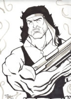 Michael Duron and Rambo Comic Art