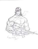 Jerry Gaylord Rambo Comic Art