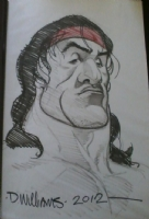 David  Brohawk  Williams and Rambo Comic Art
