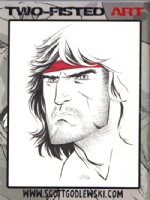 Scott Godlewski and Rambo Comic Art
