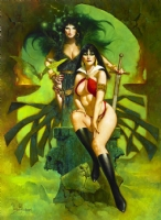 VAMPIRELLA & THE WITCH QUEEN by Sanjulian Comic Art