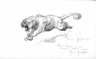 Frazetta Lioness Comic Art