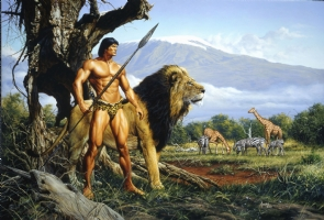 Tarzan and the Golden Lion Comic Art